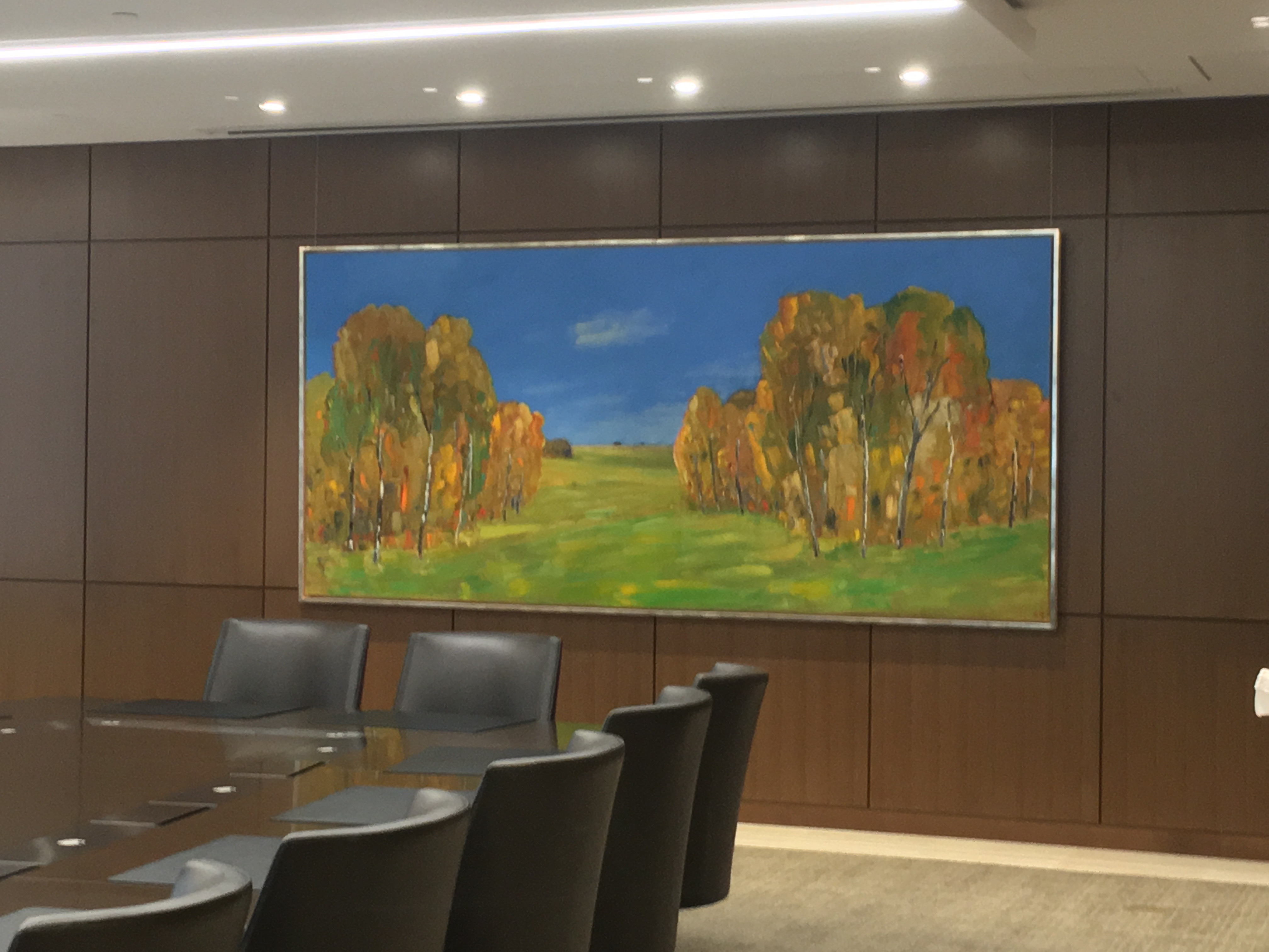 11 Passage 2016 acrylic on canvas 66_ x 144_ Scotiabank Conference Centre Boardroom Toronto