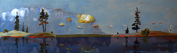 Between-Two-Small-Rock-Islands-2013-30-x-96-acrylic-canvas