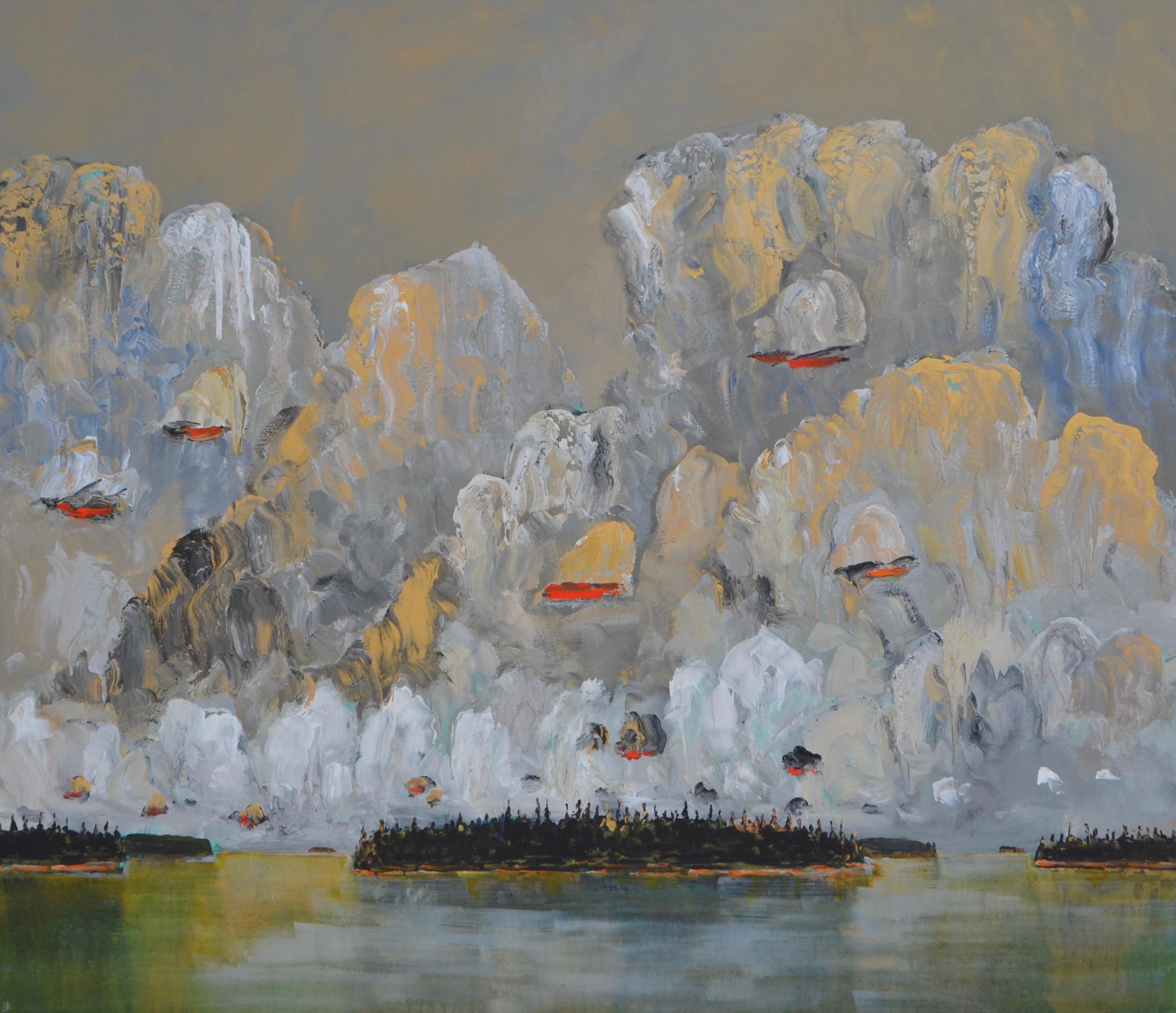Island 2019 acrylic on canvas 78_ x 90_