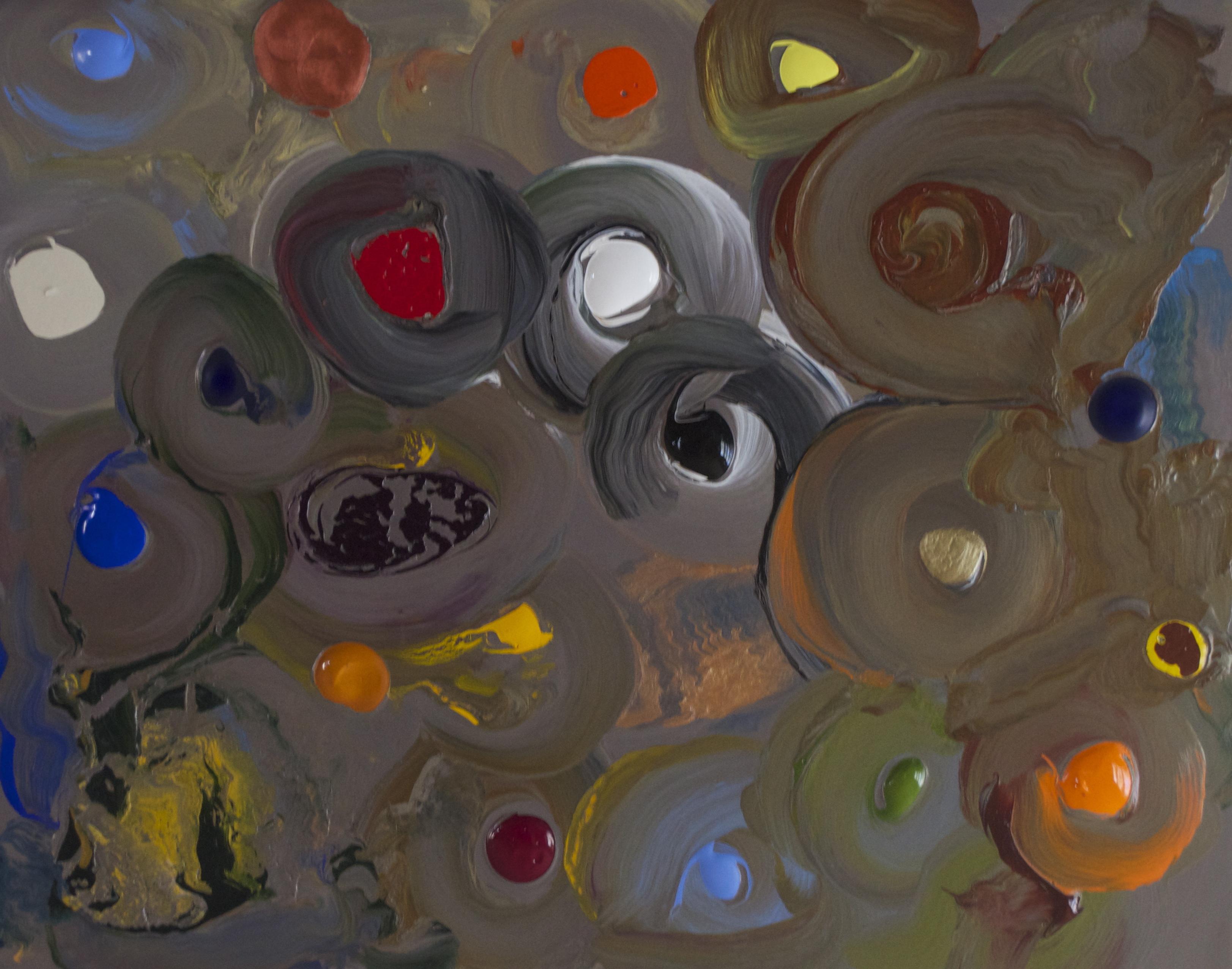 Jazz Party 2014 acrylic on masonite panel 16_ x 20_