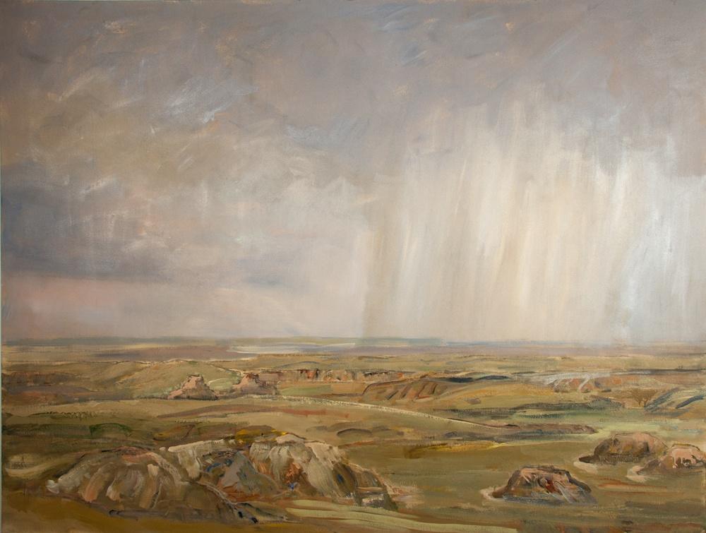 Rain-Dance_Badlands-2011-78-x-109-Acrylic-canvas