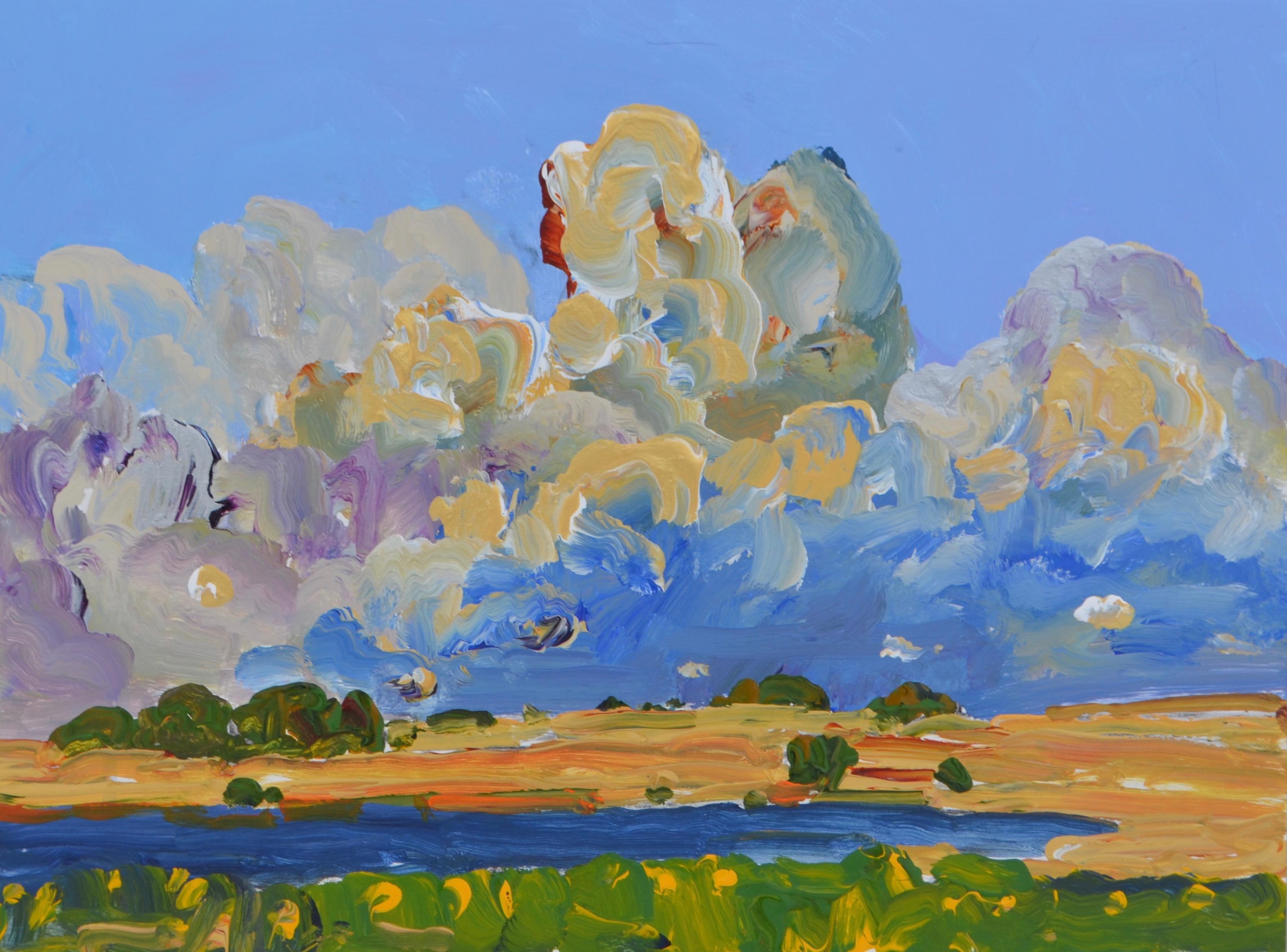 Sky, Water acrylic on panel 10_ x12_