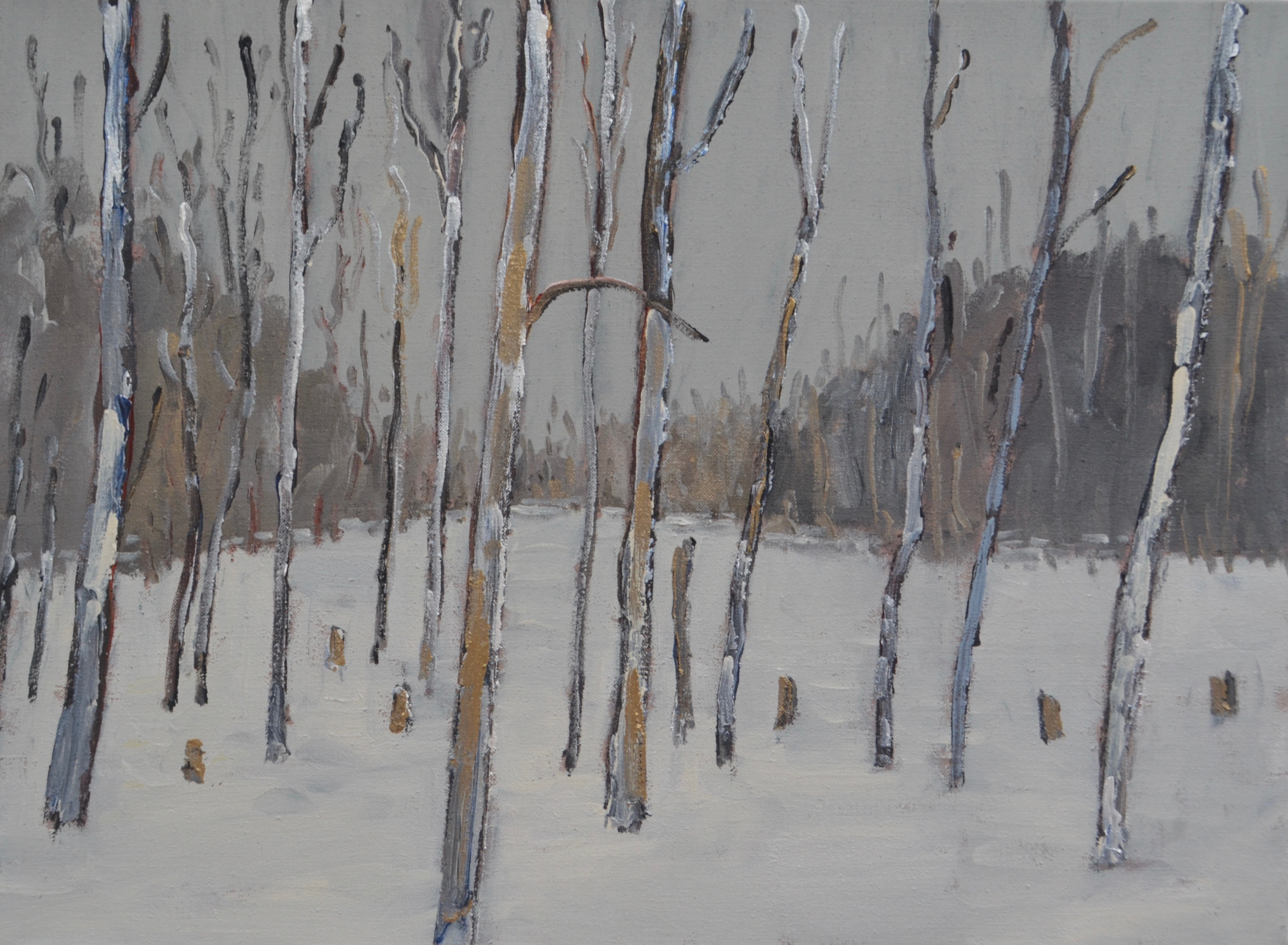 Winter Trees 2017 acrylic on linen 22_ x 30_