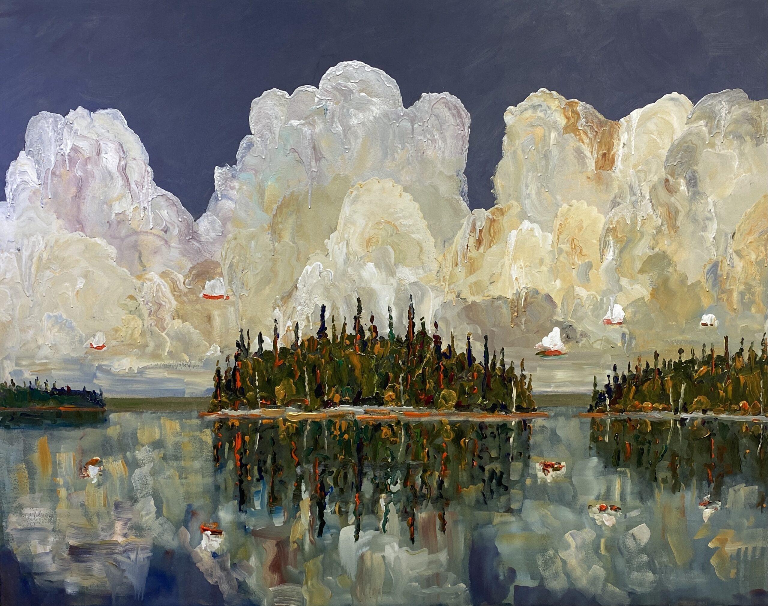 Meditation 2021 acrylic on canvas 56 1:2 x 76