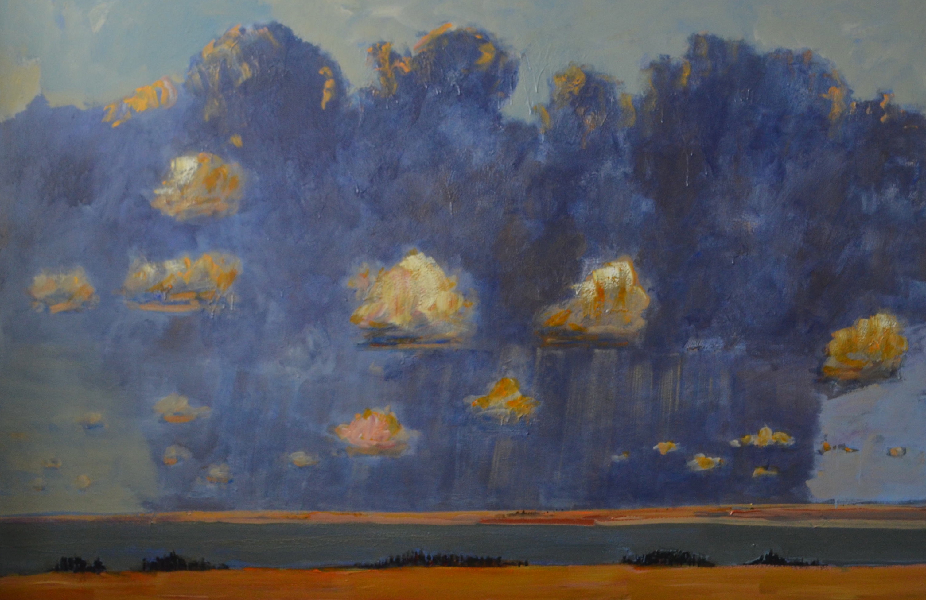 Big-Cloud-Formation-Over-Kasba-Lake-2014-Acrylic-on-canvas-66in-x-96in