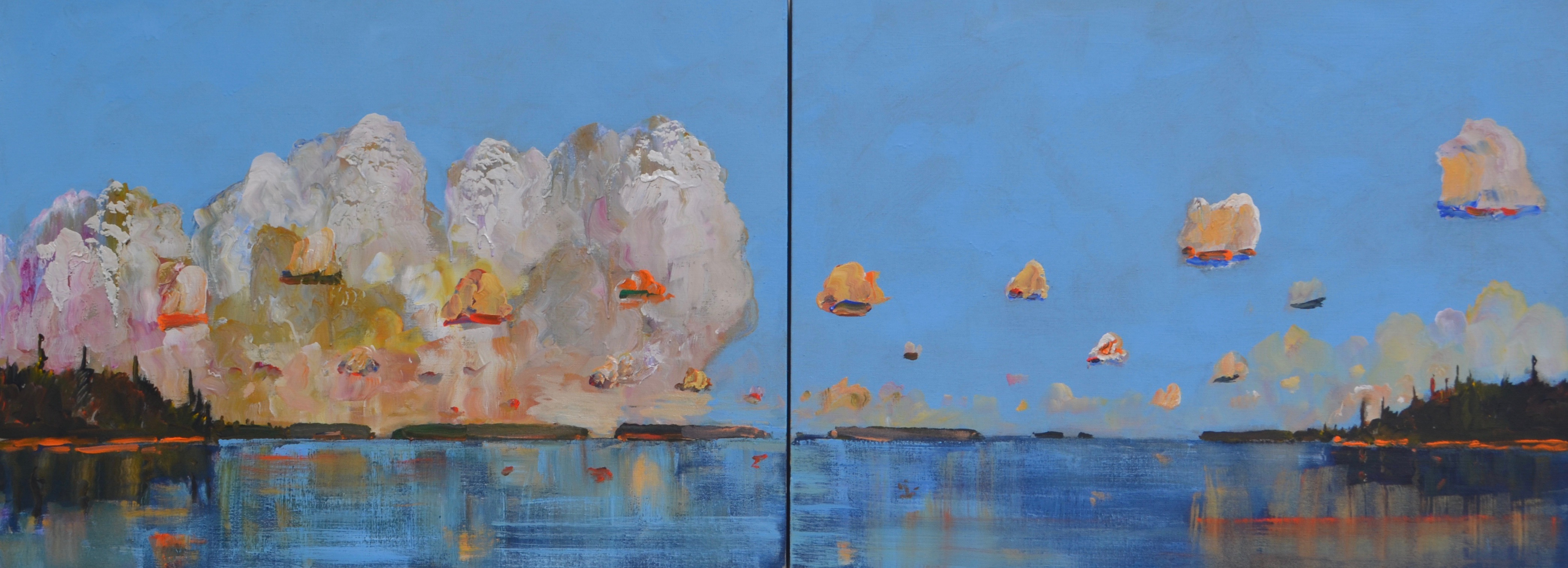 Clear-Hot-Day-Cumulus-Building-2016-acrylic-on-linen-diptych-36-x-96