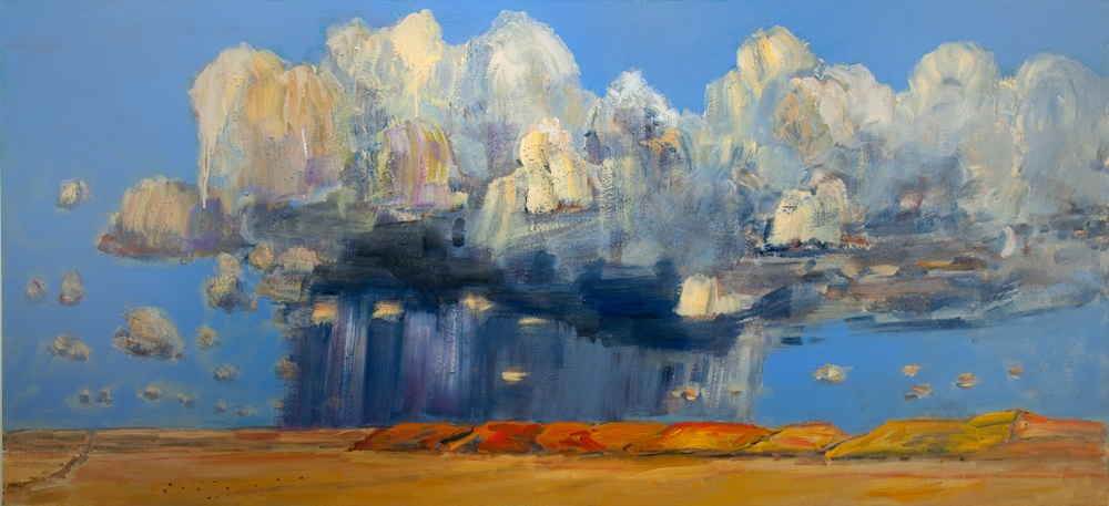 Horses_Rain-Clouds-2011-44-x-96-Acrylic-canvas