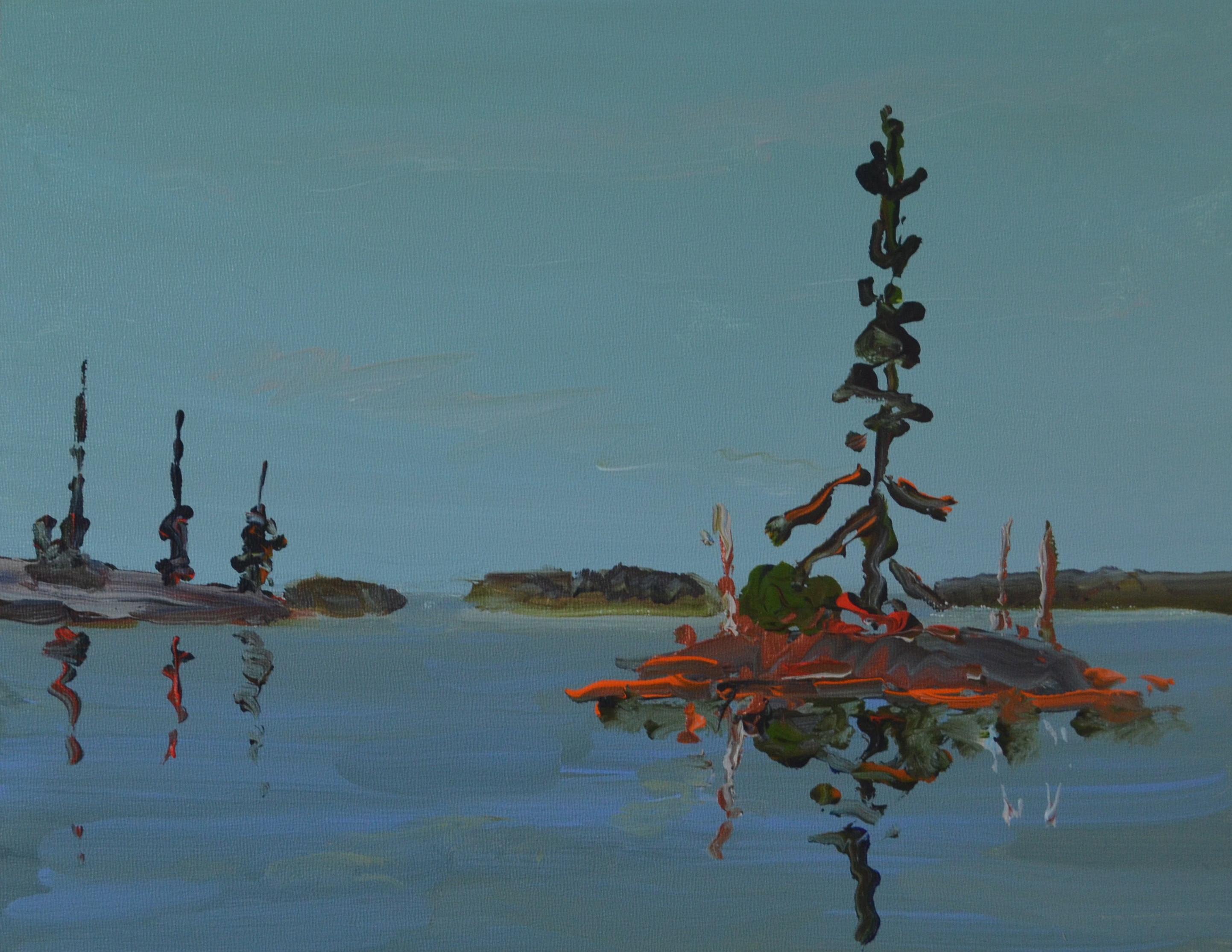 Little Island 2013 acrylic on panel 11_ x 14_