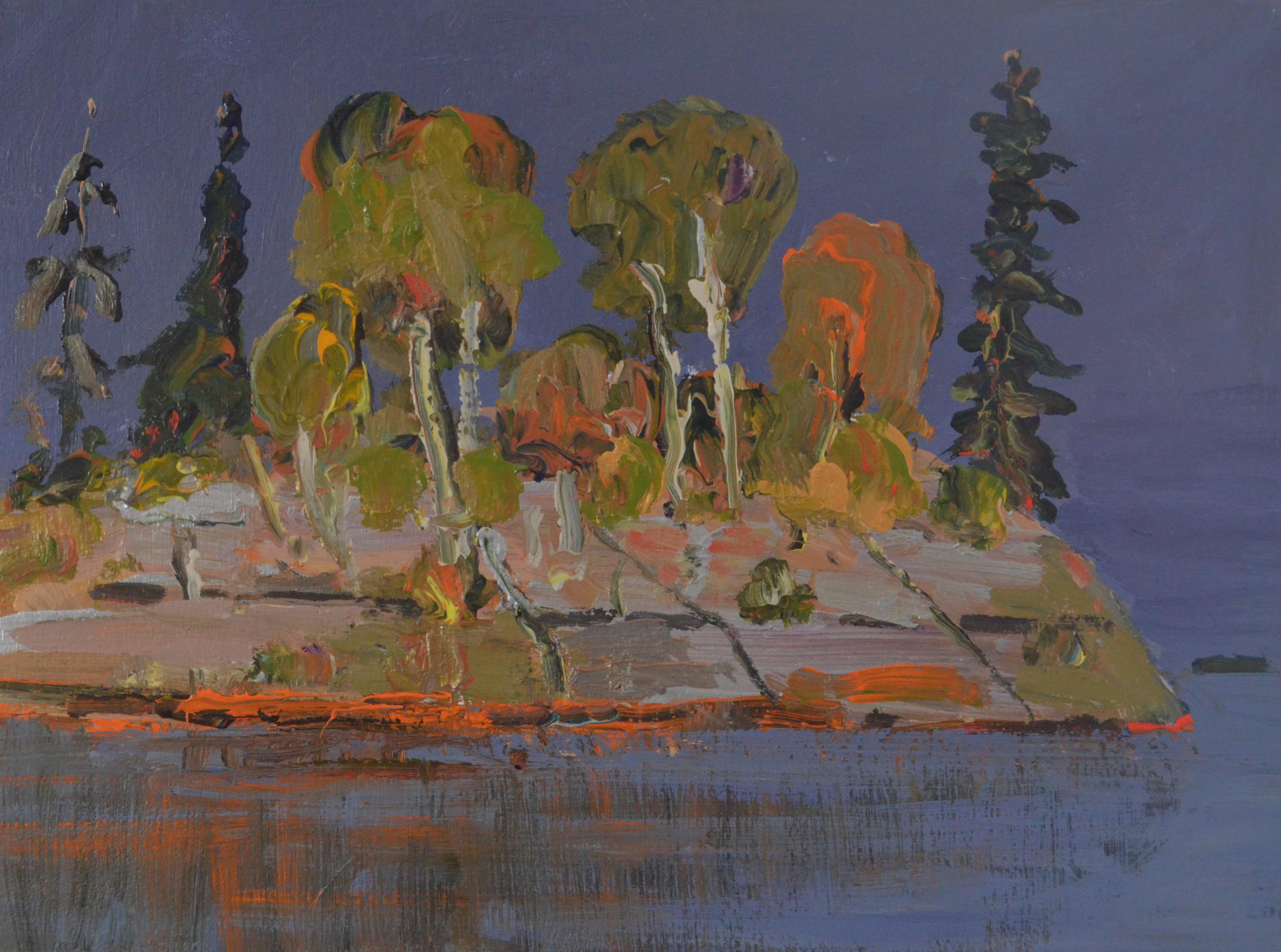 Little-Rock-Island-2014-acrylic-on-panel-12in-x-16in-