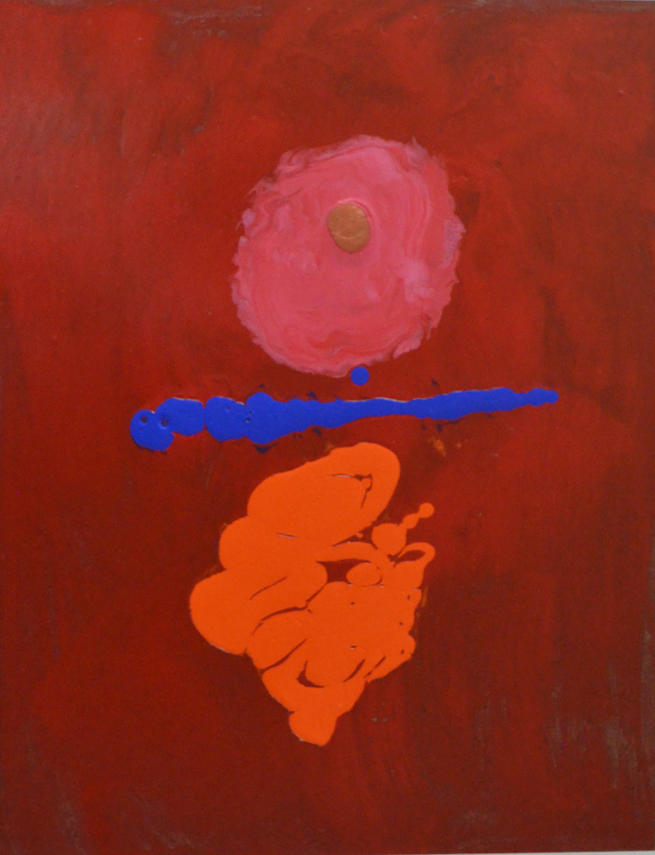 Orange Dancer 2014 acrylic on masonite panel 11_ x 14_