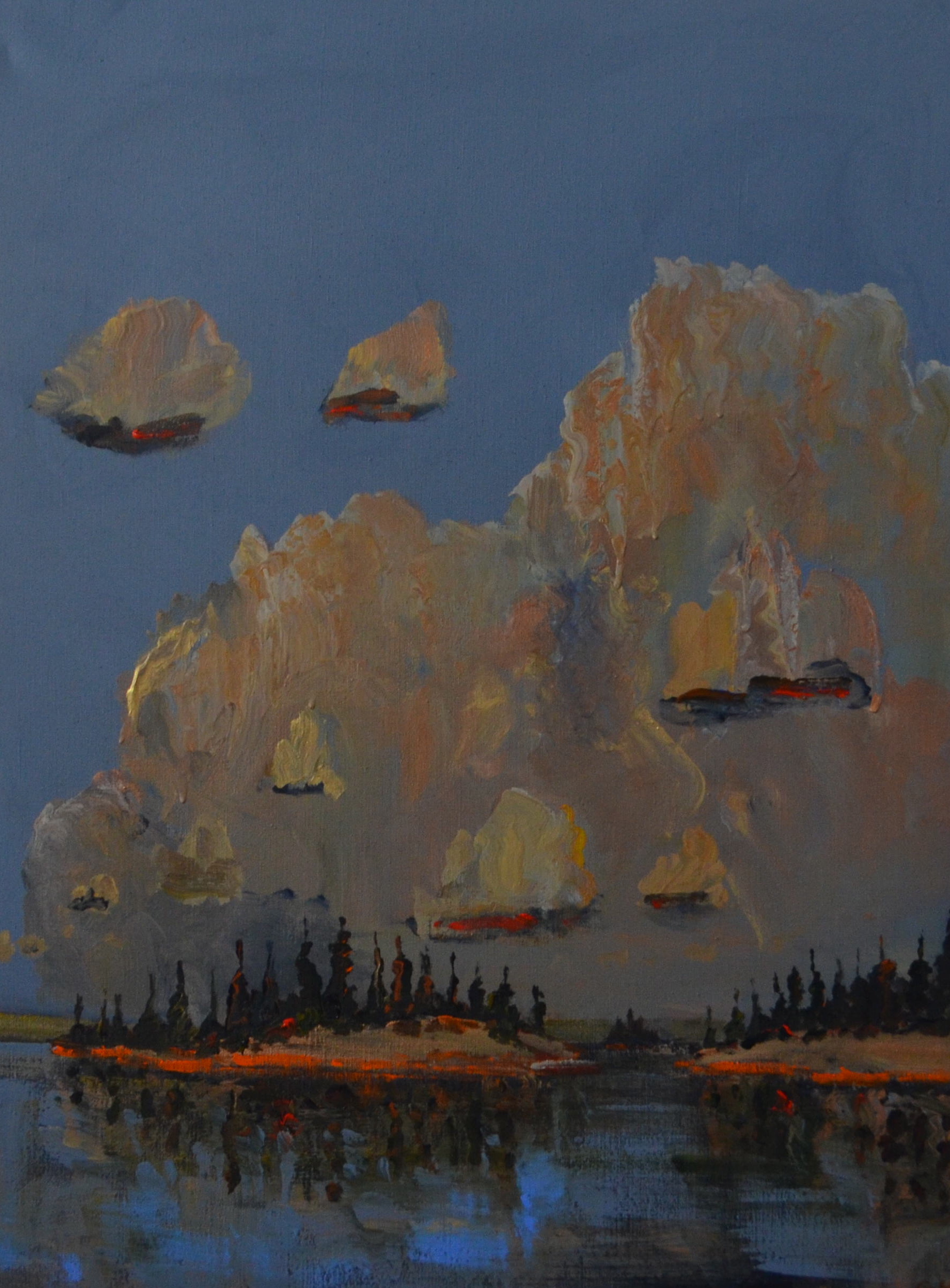 Smokey-Clouds-Between-Islands-2014-acrylic-on-canvas-48in-x-36in
