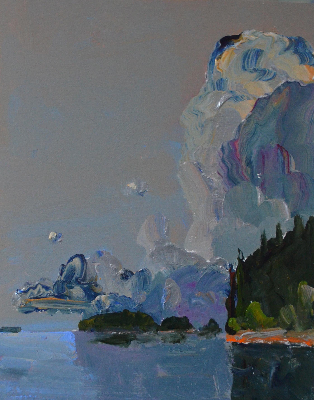 Stillness acrylic on birch 14_ x 11_