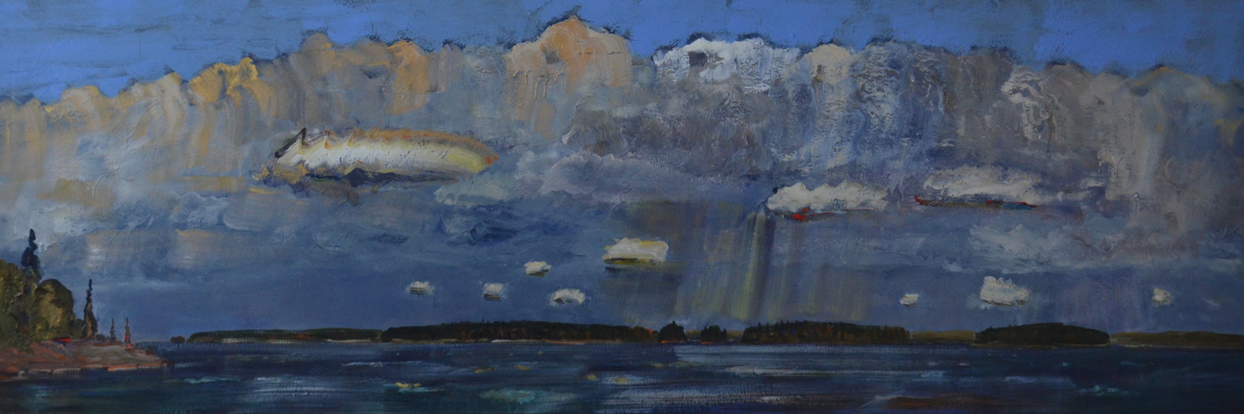 Storm-Coming-Across-the-Lake-2009-2014-Acrylic-on-canvas-40in-x-109in
