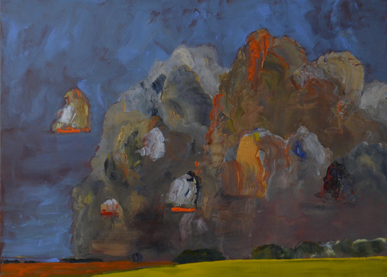 Storm-Moving-Away-Wet-Fields-2014-acrylic-on-linen-48in-x60in