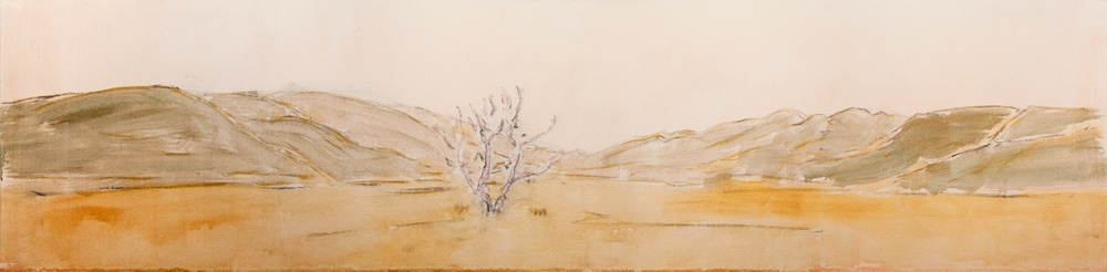 Tender-is-the-Valley-2010-24-x-96-Acrylic-charcoal-canvas