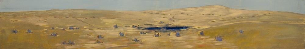 Watering-Hole-2010-16-x-96-Acrylic-canvas