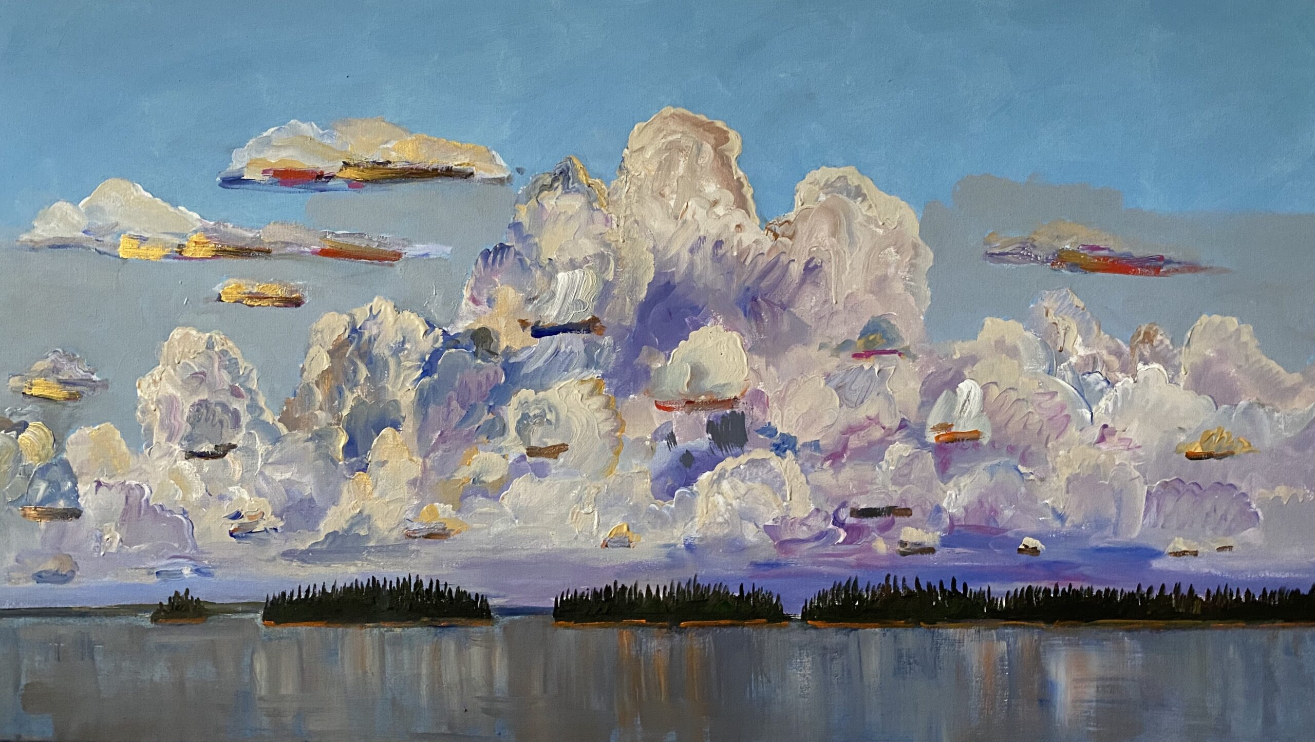 Great Day 2020 acrylic on linen 44 x 77