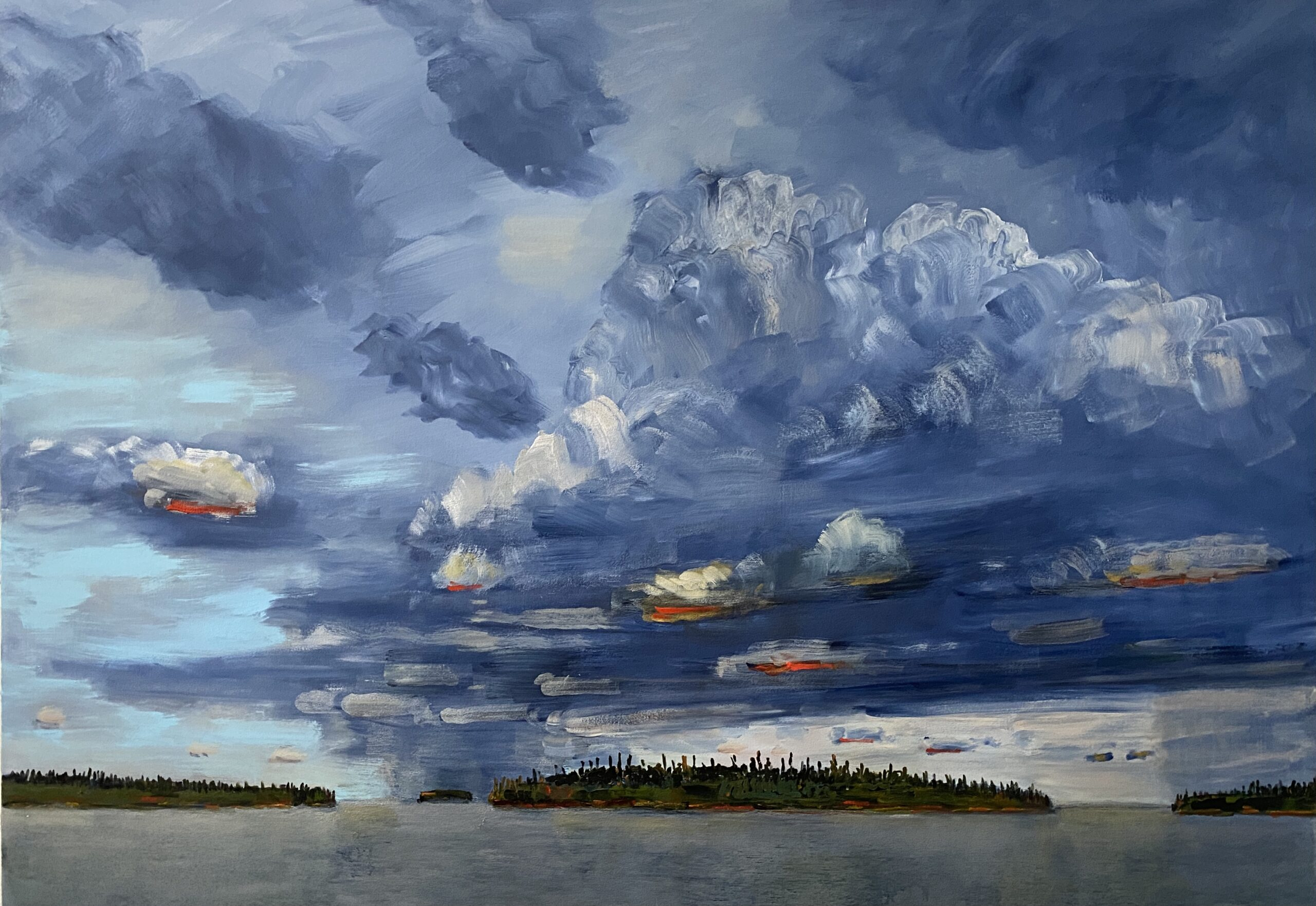 Island in the Middle , Sky On the Move 2020 52_ x 78_